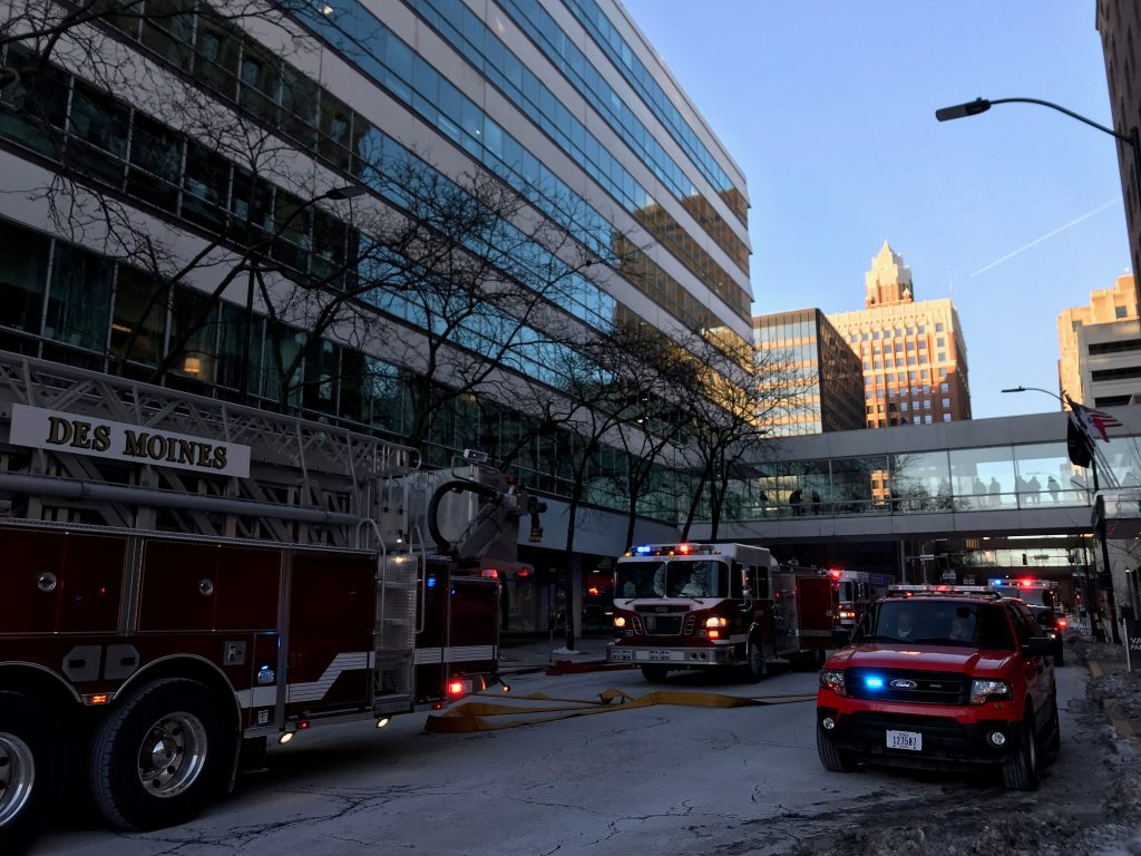 Fire Reported at Capital Square Building in Downtown Des Moines 2