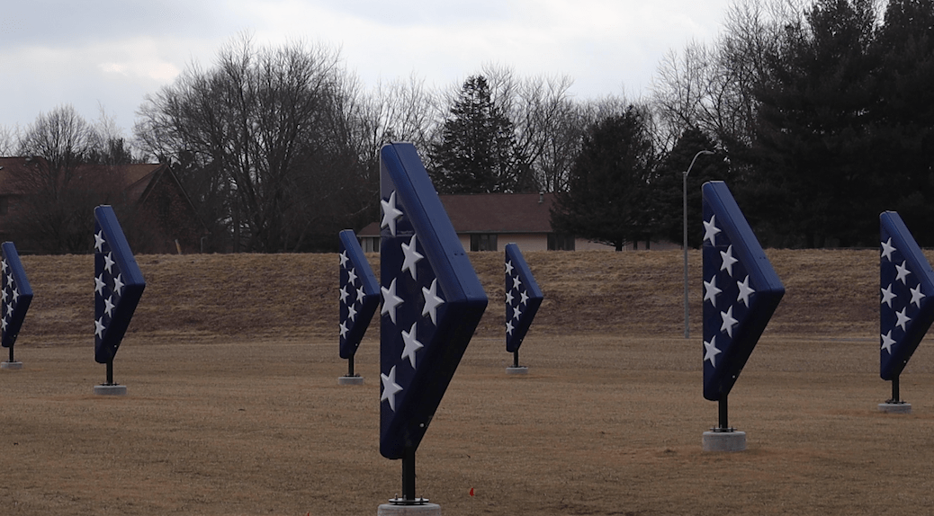'Folded Flags' Continues to Enhance Veterans Parkway in West Des Moines 13