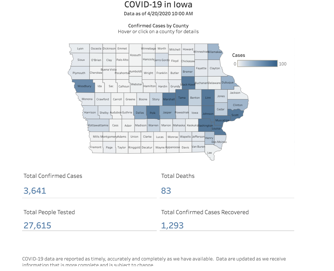 7 More COVID-19 Deaths, 107 New Cases in Iowa 15