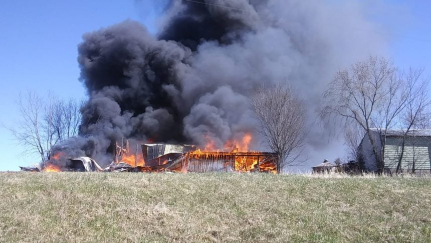 Madison County Barn Destroyed in Fire 1