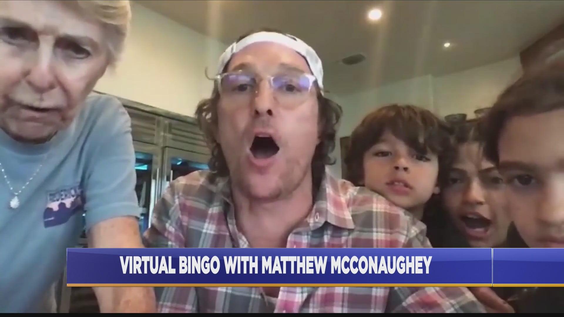 Matthew McConaughey Plays Virtual Bingo with Seniors in Isolation 1