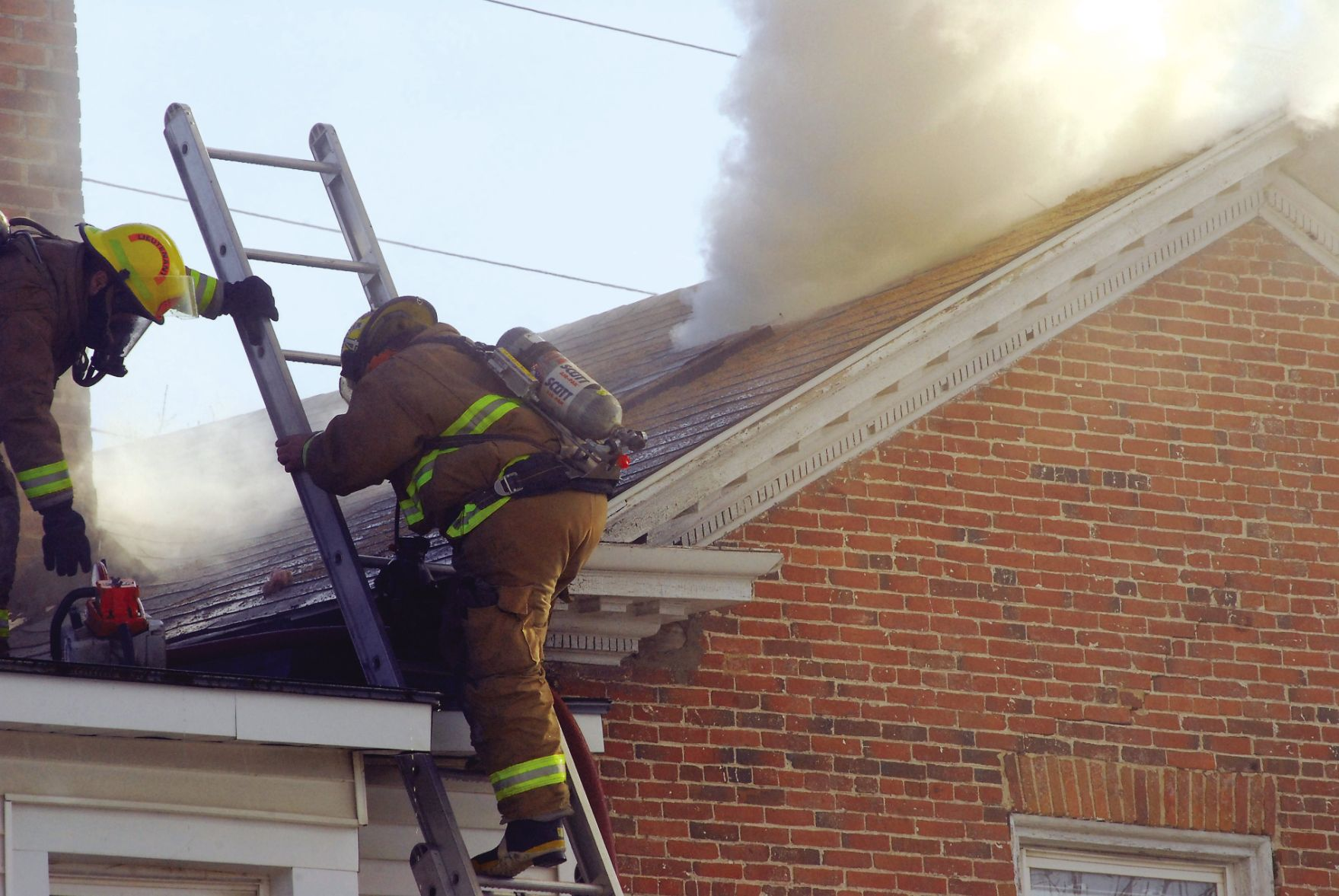 Roof Fire Damages Downtown Apartment Building 7