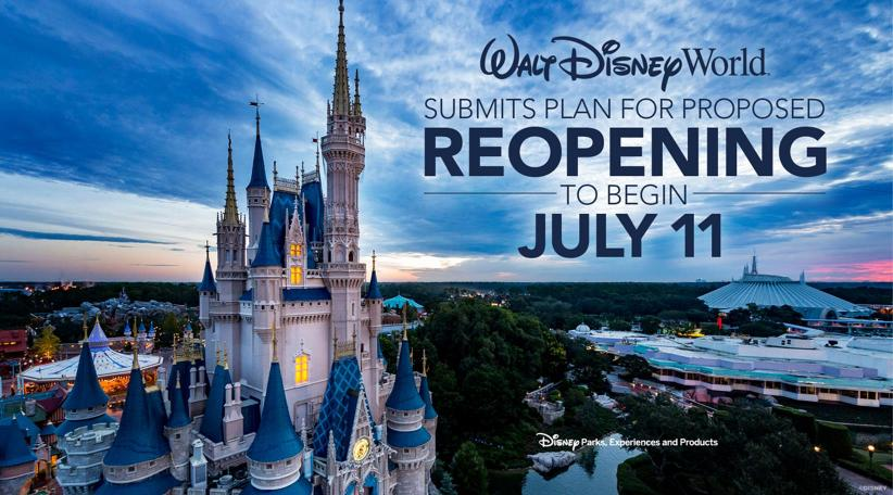 Walt Disney World to Reopen Florida Theme Parks Starting July 11 3