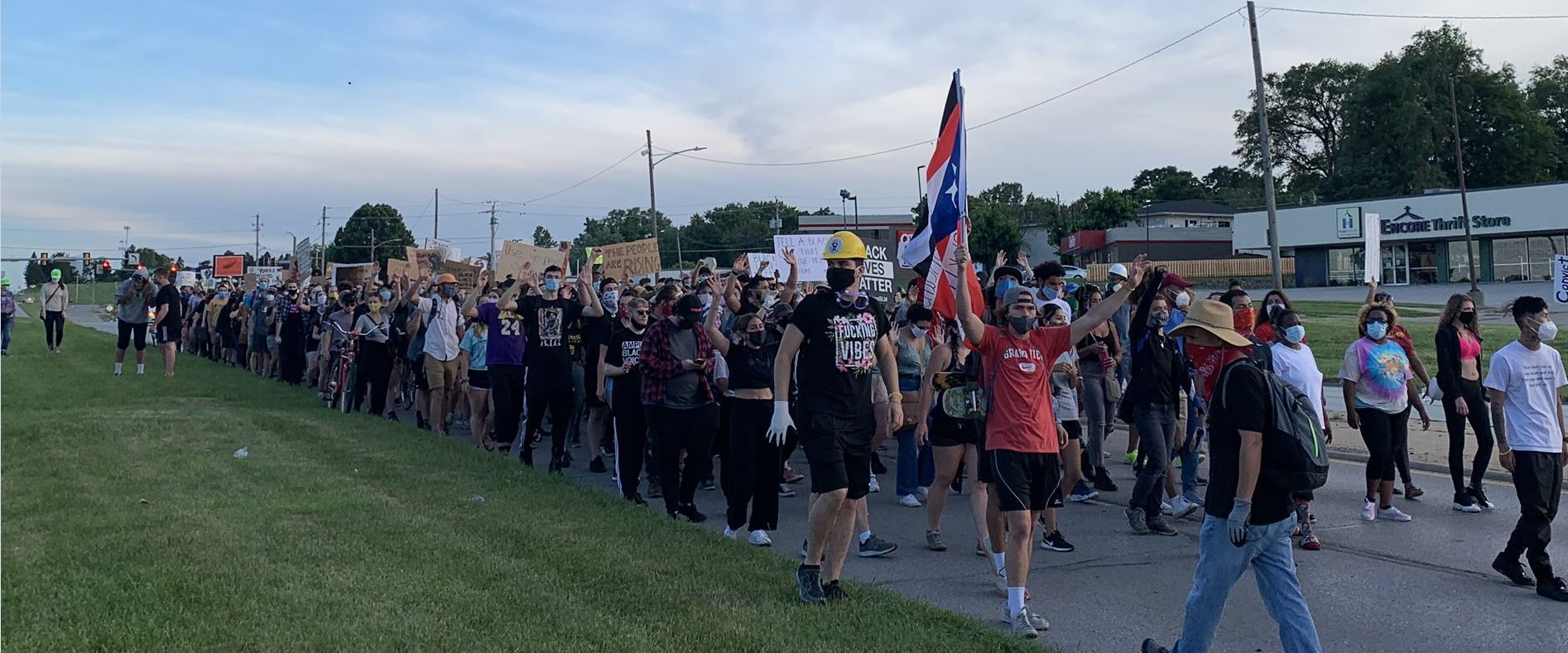 BLM March on Merle Hay Road Ends Peacefully After Being Met With Riot Gear 7