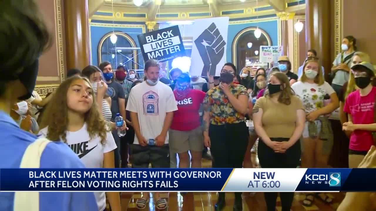 Des Moines BLM Disappointed After Meeting With Governor on Felon Voting Rights 9