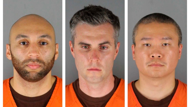 Judge: $750K bail for 3 ex-officers accused in Floyd's death 1