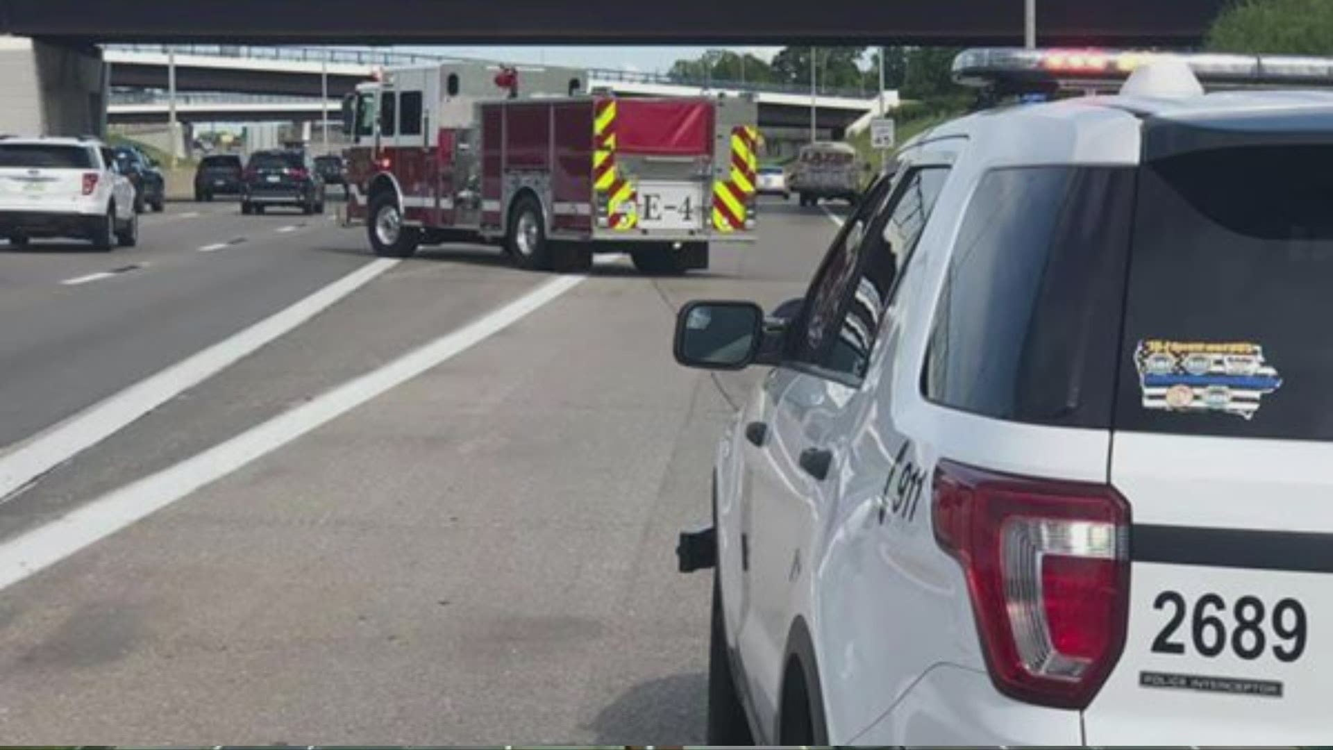 Man in Critical Condition After Getting Hit by Car on I-235 1