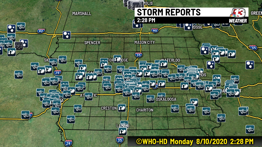 'Derecho' Storm Packing Hurricane Force Winds Rips Across Iowa Monday 1