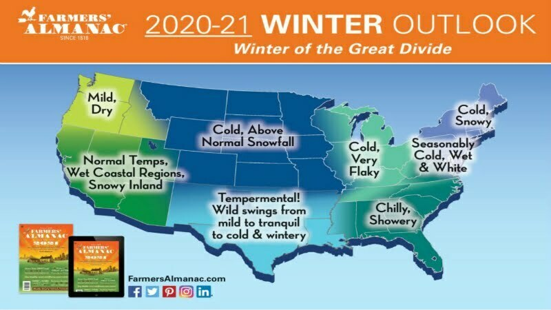 Snowy, Freezing Winter Predicted for Much of US, Farmers' Almanac Says 1