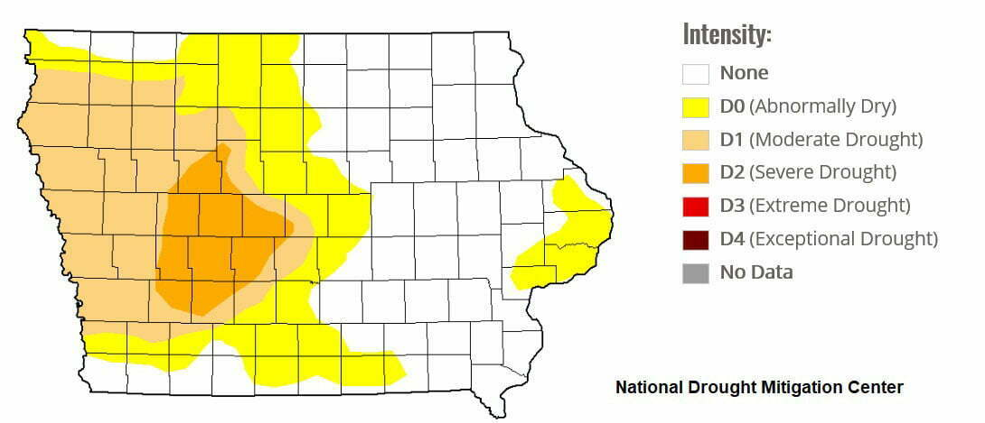 West Central Iowa Considered Extremely Dry 1