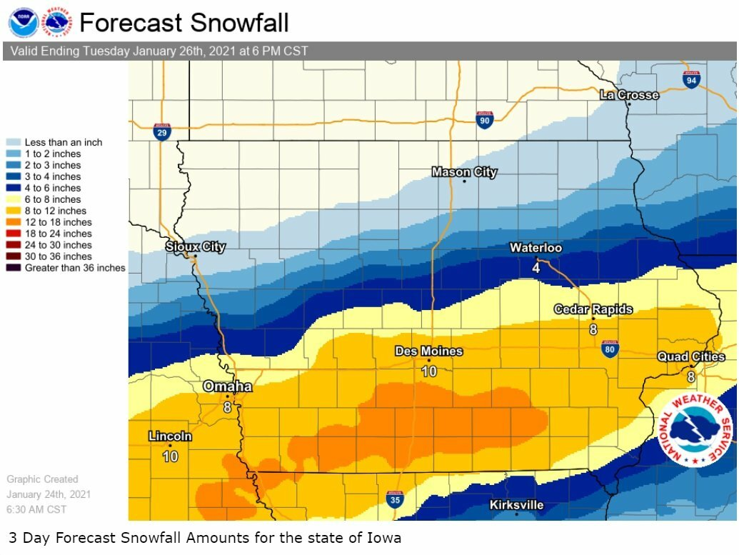 NWS issues winter storm warning for 8-12 inches of blowing snow 1